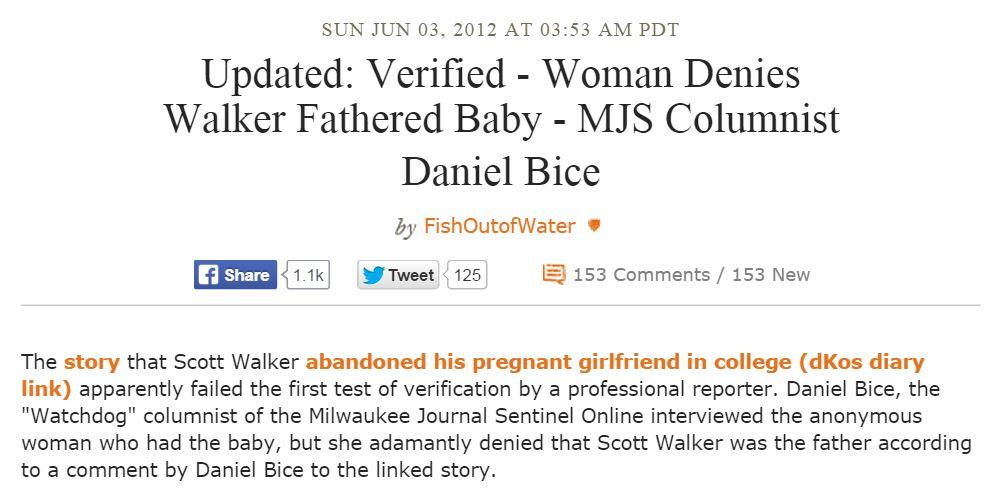 Daily Kos Scott Walker Baby