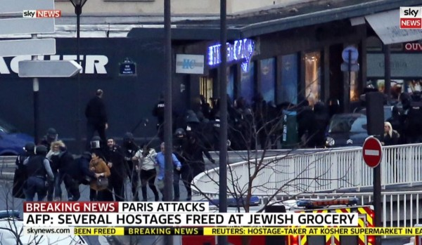 Sky News Hostages Fleeing Jewish Grocery