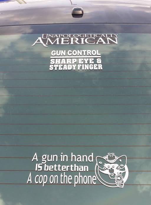 Bumper Sticker - Colorado - Gun in Hand Full