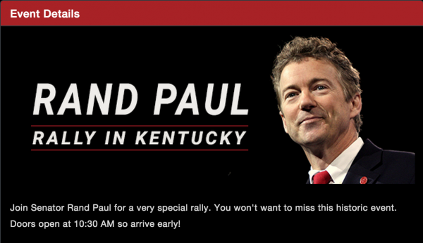 Rand paul president announcement