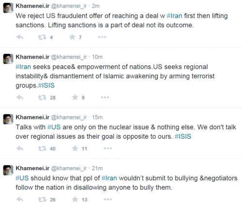 Twitter Khamenei Iran Nuke Talks 3-21-2015 2