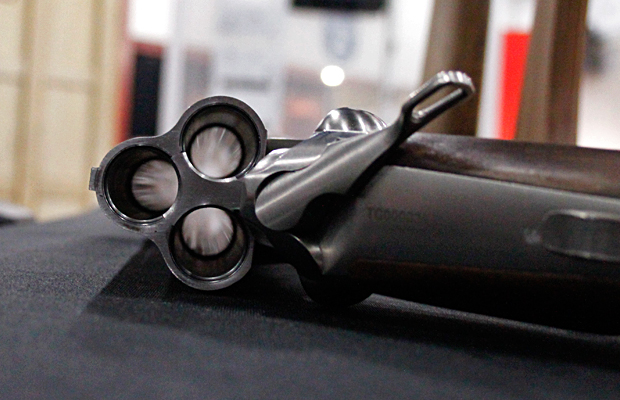 Triple-barreled shotgun from NRAAM 2014.