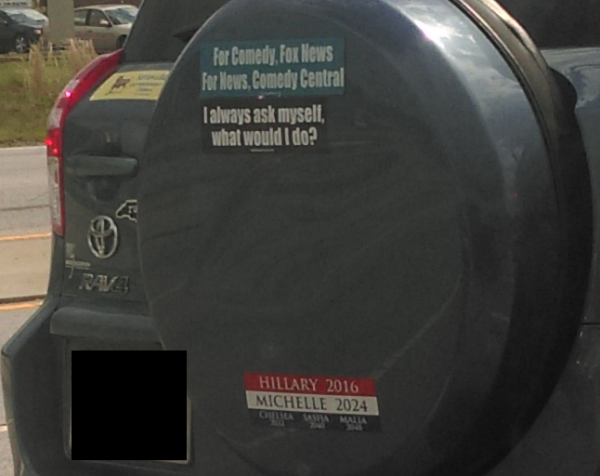 Bumper Stickers - Durham NC - Hillary Michelle Full Car
