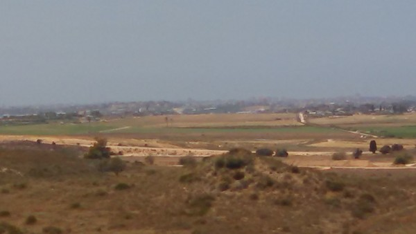 Sderot Israel View to Gaza