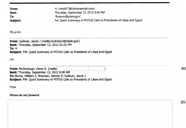 hillary clinton emails redacted responses secretary of state benghazi classified information scandal