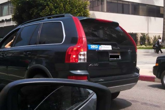 Bumper Sticker - Los Angeles - Obama Biden 2008 and 2012_Redacted