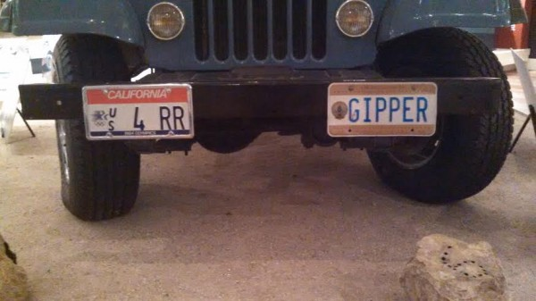 Reagan Jeep Licence Plates