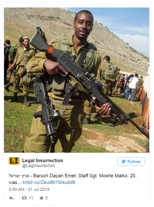 Twitter Legal Insurrection Gaza Moshe Malko killed