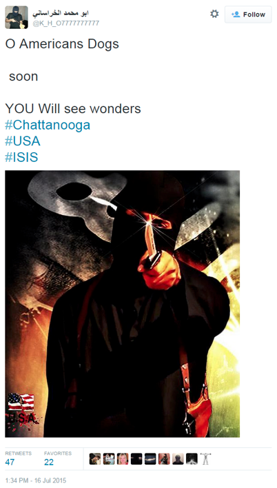 real ISIS chattanooga tweet