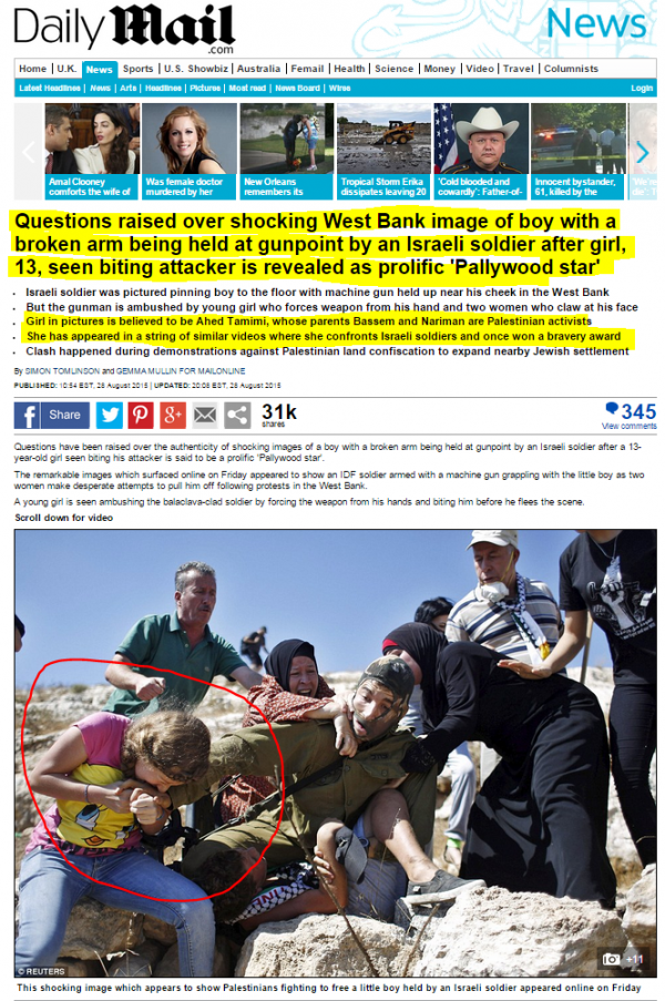http://www.dailymail.co.uk/news/article-3214441/Remarkable-moment-young-girl-bites-Israeli-soldier-two-women-overpower-puts-Palestinian-boy-broken-arm-headlock-gunpoint-clashes-West-Bank.html