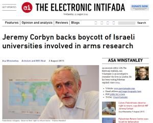 https://web.archive.org/web/20150812145642/https://electronicintifada.net/blogs/asa-winstanley/jeremy-corbyn-backs-boycott-israeli-universities-involved-arms-research