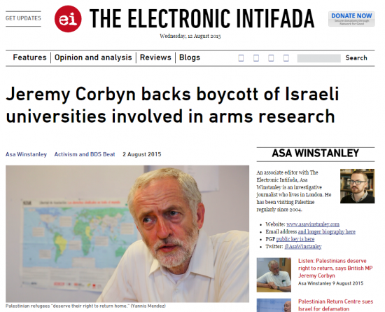 https://web.archive.org/web/20150812145642/https://electronicintifada.net/blogs/asa-winstanley/jeremy-corbyn-backs-boycott-israeli-universities-involved-arms-research
