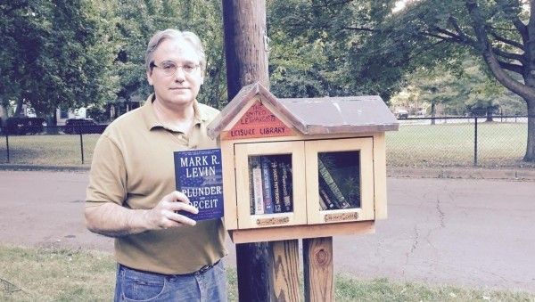 [Prof. Jacobson donates Mark Levin's Plunder and Deceit to Ithaca (NY) Little Library]