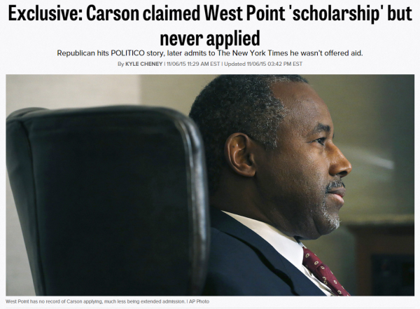 Politico Ben Carson West Point Article version 2