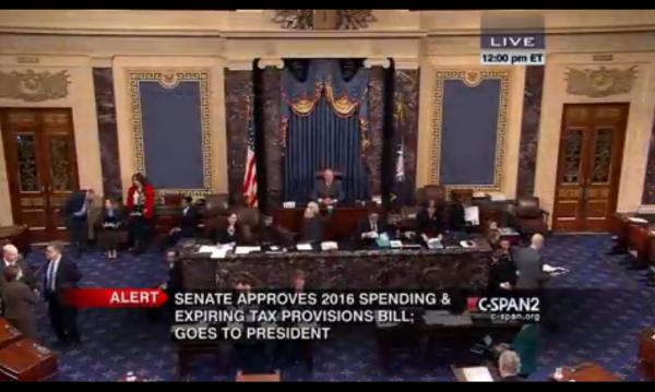 Omnibus Bill 12-18-2015 Senate vote end
