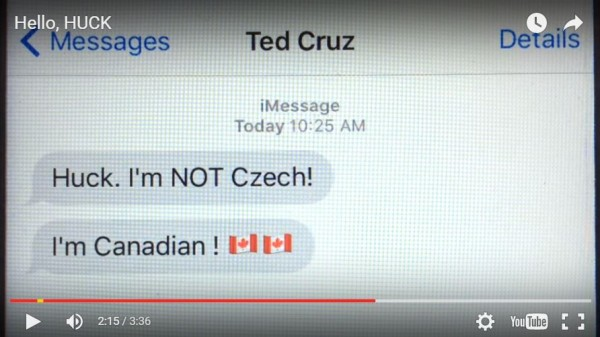 Mike Huckabee Iowa Caucus Video Ad Cruz Canadian