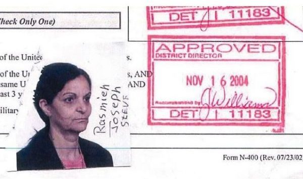 Rasmea Odeh Naturalization Application Photo