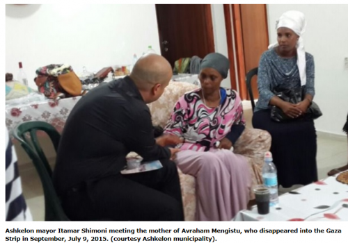 Ashkelon mayor meets with Mengistus