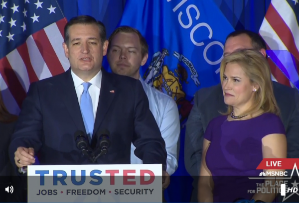 Cruz Victory Speech Wisconsin Heidi