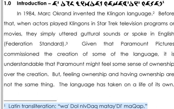 LI #22b Amicus Brief in Klingon
