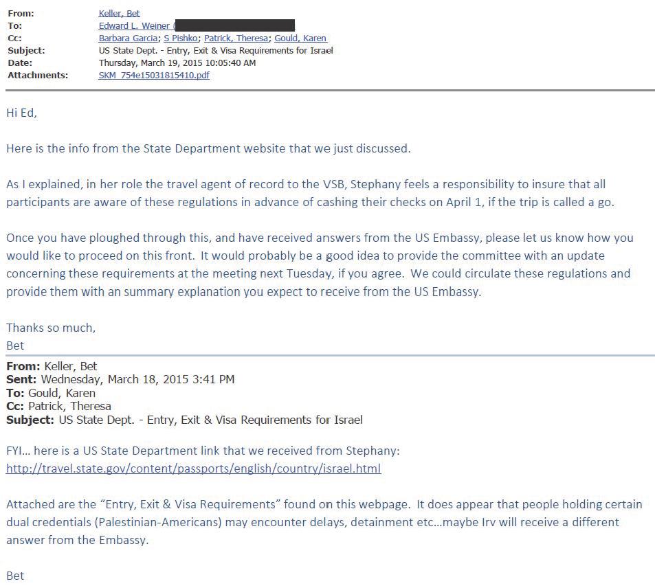 VSB Email 3-19-2015 1005 Entry Exit Visas Palestinian Americans - redacted