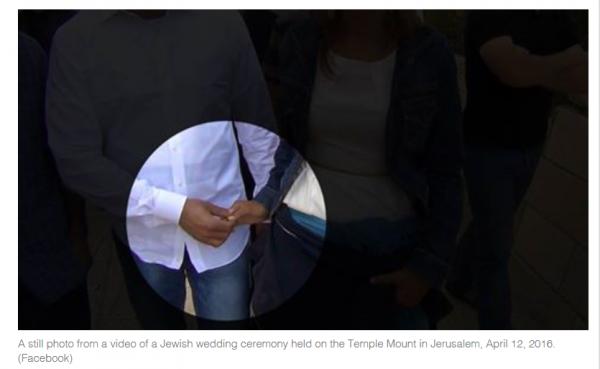 Wedding on Temple Mount