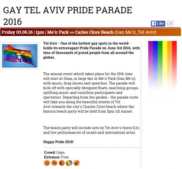 Credit: Gay Tel Aviv, online