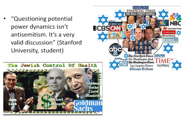 Stanford U. student, questioning Jewish power
