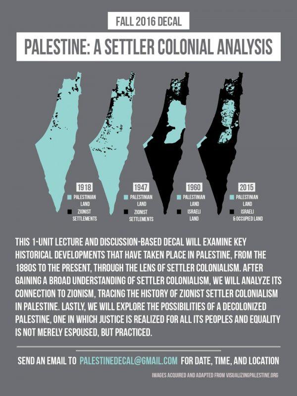 Berkeley Israel Settler Colonial Court poster