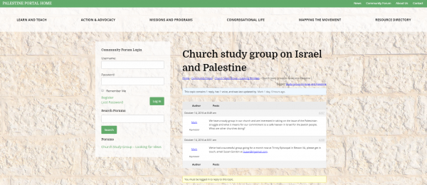 palestine-portal-community-forum-church-study-group