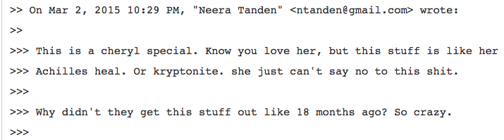 Tanden Mills Hillary Email