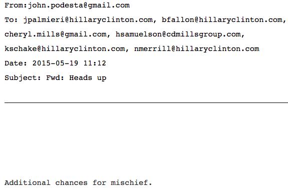 Podesta Email Mischief