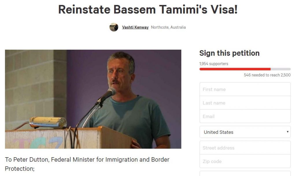 https://www.change.org/p/peter-dutton-reinstate-bassem-tamimi-s-visa