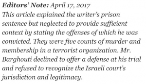 https://twitter.com/Yair_Zivan/status/854090559648092160?ref_src=twsrc%5Etfw&ref_url=http%3A%2F%2Flegalinsurrection.com%2F2017%2F04%2Fny-times-gives-palestinian-terrorist-marwan-barghouti-platform-to-announce-hunger-strike%2F