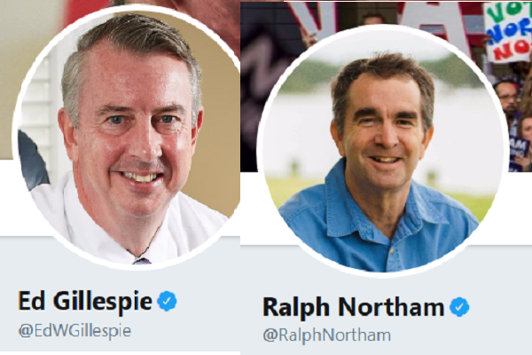 https://twitter.com/EdWGillespie and https://twitter.com/RalphNortham