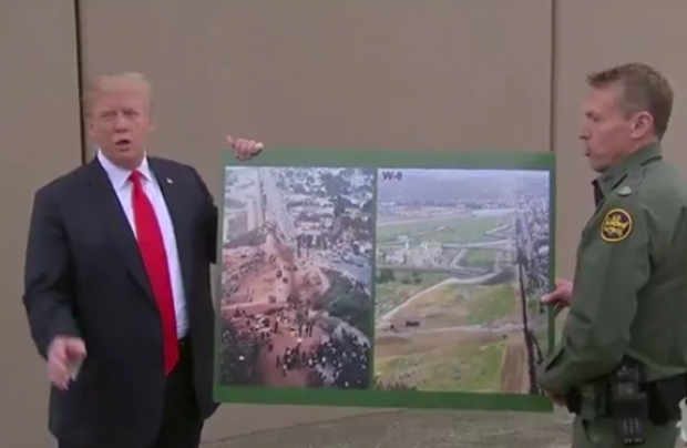 Donald Trump Looks at Wall Prototypes in California, Attacks Gov. Jerry Brown