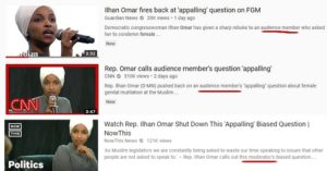 Screen grab of YouTube search results