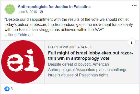 https://www.facebook.com/AnthropologistsForJusticeinPalestine/posts/1748008552142278